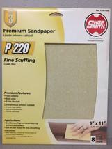 Shopsmith 7296-030 11 in. L x 9 in. W 220 Grit Aluminum Oxide Sandpaper ... - $6.91