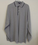 Mens Port Authority NWOT Gray Black Trim Long Sleeve Polo Shirt Size XL - $16.95