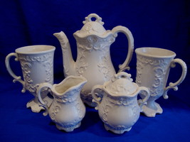 Teapot Set Cream Sugar Cups Vintage Elegant Tea... - $49.99