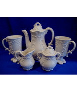 Teapot Set Cream Sugar Cups Vintage Elegant Tea Service Collectible Mugs  - $49.99