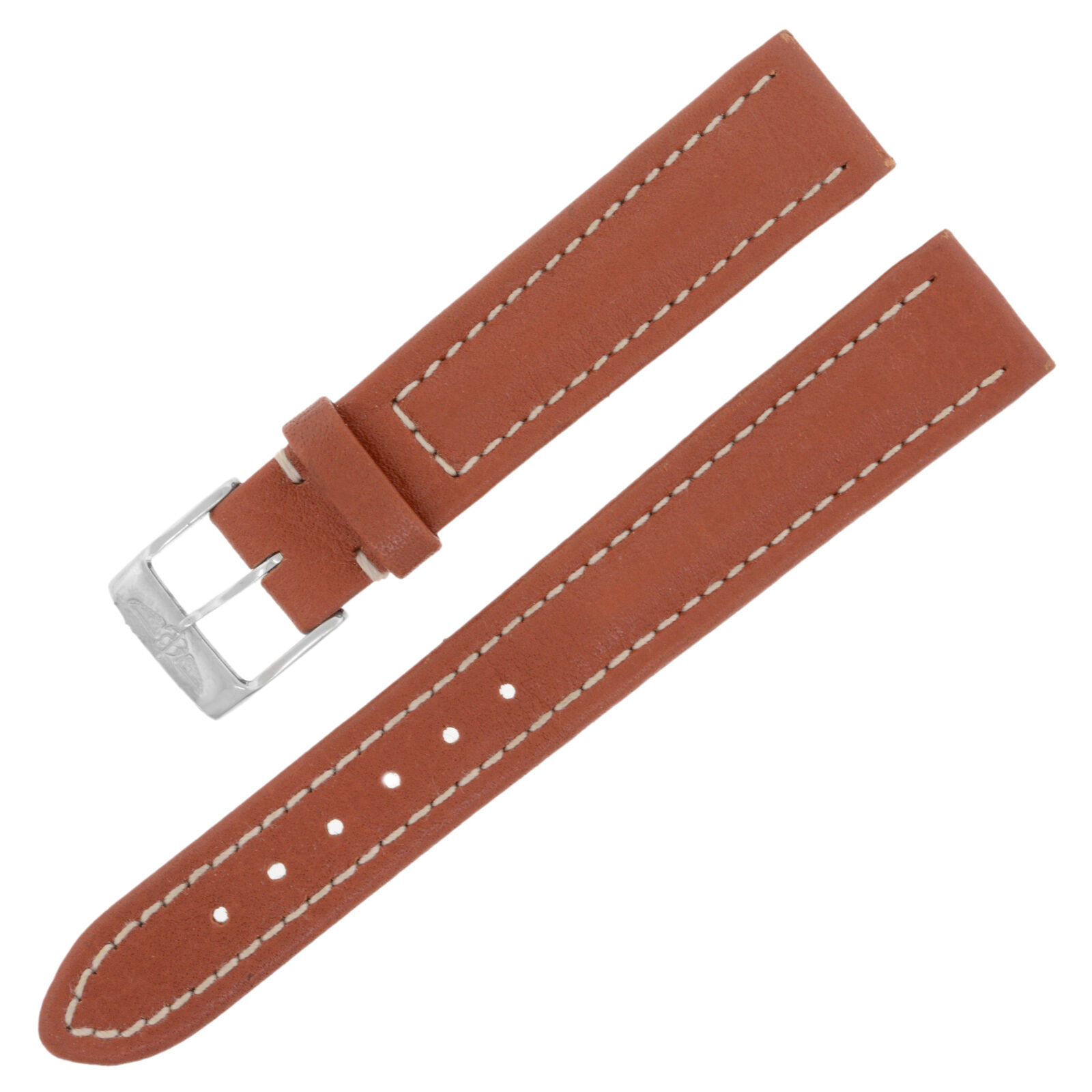 Primary image for Breitling X120 15-14mm Genuine Leather Brown Ladies Watch Band w. Buckle
