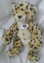 Build A Bear Leopard Cheetah Stuffed Animal Toy World Wildlife Fund BAB... - $11.87