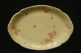 """Antique Haviland Limoges France 11-1/8"""" Oval Serving Platter Pink Cornfl... - $49.49"""