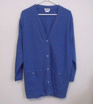 Womens Fashion Formulas Blue Long Sleeve Button Top Size 2X - $11.95