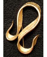 Marcel Boucher Statement PIN Avon Belleville Textured Ribbon BROOCH 7507... - $39.55