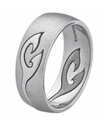 Stainless steel Comfort feel Design band Ring Size 6 - $9.29