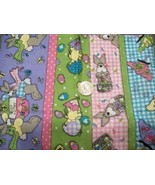JELLY BEAN PARADE EASTER BUNNY CHICK FABRIC  - $12.99
