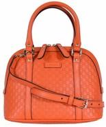 Gucci Microguccissima Soft Margaux Orange Leather Dome Bag - $1,350.00
