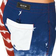 Kr3w Mens Medicate America USA Stars % Stripes Swim Surf Board-Shorts NWT image 6