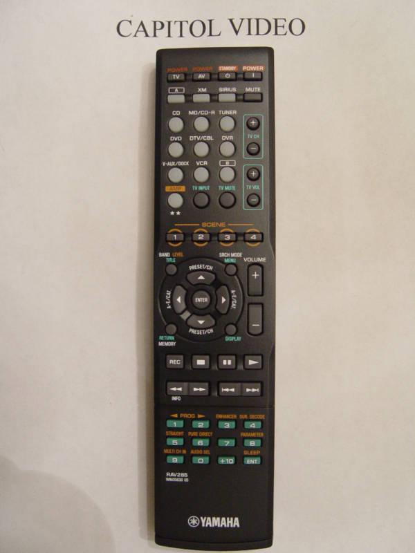 Yamaha rav285 remote control part wn058300 home audio for Yamaha remote control app