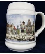 "Holland Beer Mug Stein Royal Schwabap Canal Scene 1984 Stoneware 5.5"" - $14.84"