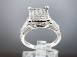 Women 925 Silver 0.45CT Diamonds Engagement Ring Size 7 - $162.74