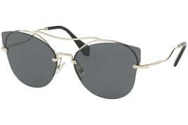 New Miu Miu Scenique Butterfly Gold Black Mirrored Oversized Sunglasses MU52SS - $176.42