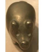 Vintage Miniature Solid Brass Standing Pig for Good Luck! - $9.99