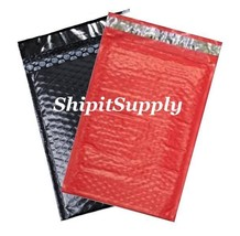 2-500 #000 4X8 Poly ( Black & Red ) Color Bubble Padded Mailers Fast Shi... - $2.99+