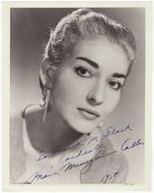 * Maria Callas Signed Photo 8X10 Rp Autographed Picture Soprano * - $19.99