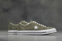 Converse Mens One Star Ox Suede 161576C Field Surplus (Olive) / White Size 9 image 9
