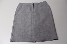 W11464 Womens EXPRESS straight gray trouser SKIRT, lined, front zip, size 4 - $28.97