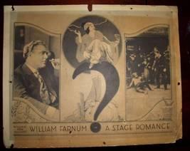 DECO Era William FARNUM A STAGE Romance ORG c.1922 LC - $24.99