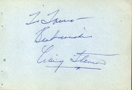CRAIG STEVENS Autograph, nicely signed on album page - $11.87