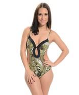 Biki monokini abstract cutout sides adjustable straps swimwear - $18.99
