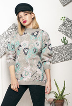 Weird knit jumper - 90s vintage sweater - $40.30