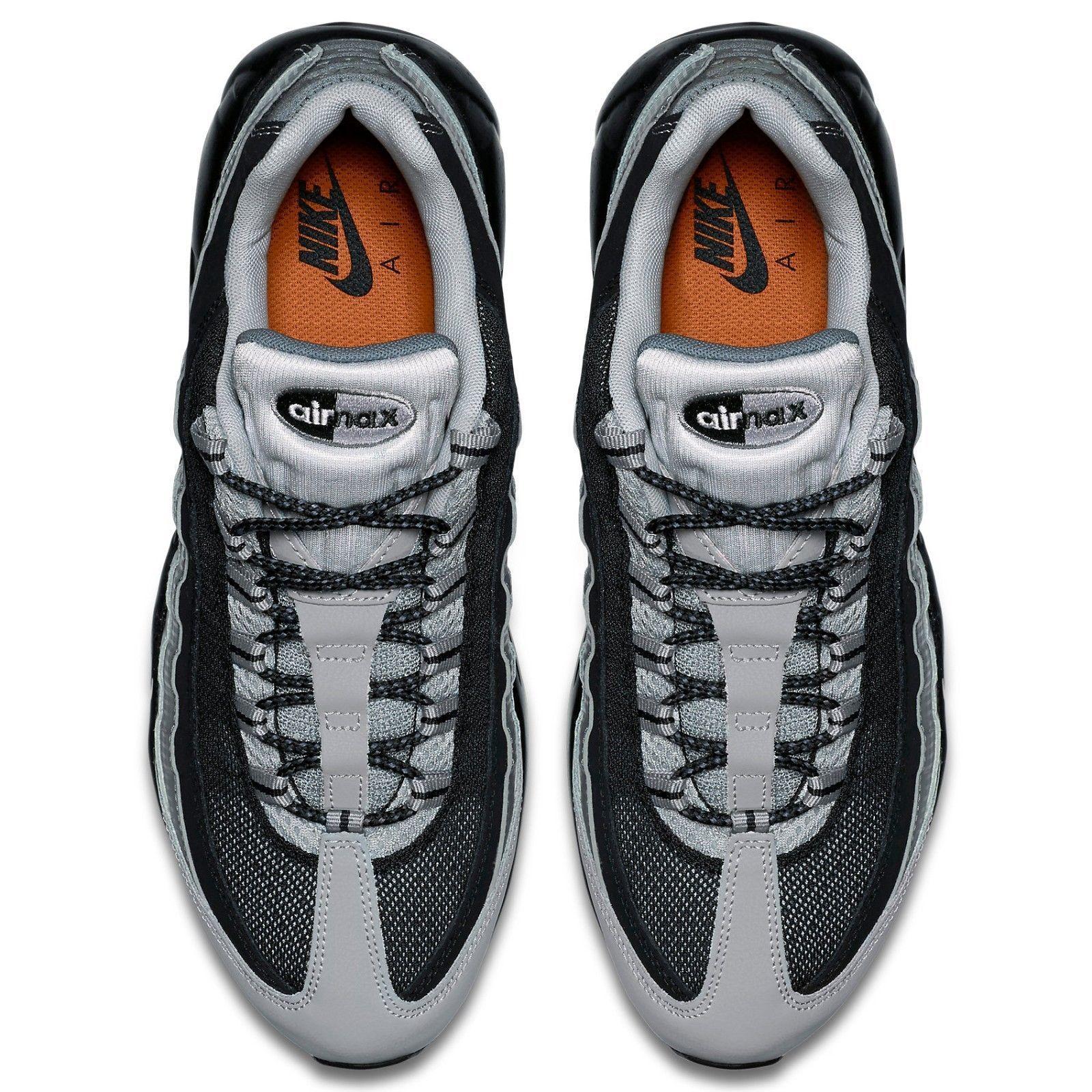 Nike Air Max 95 Essential Cool GreyTotal Orange White, Mens
