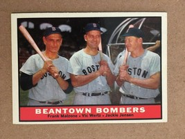 1961 Topps #173 Beantown Bombers Baseball Card NM Condition Boston Red S... - $3.99