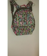 very cute girls book bag JUSTICE PEACE LOVE JVC092 - $15.65