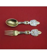 Christmas by A. Michelsen Sterling Silver Fork and Spoon Set 2pc 1919 Ve... - $503.91