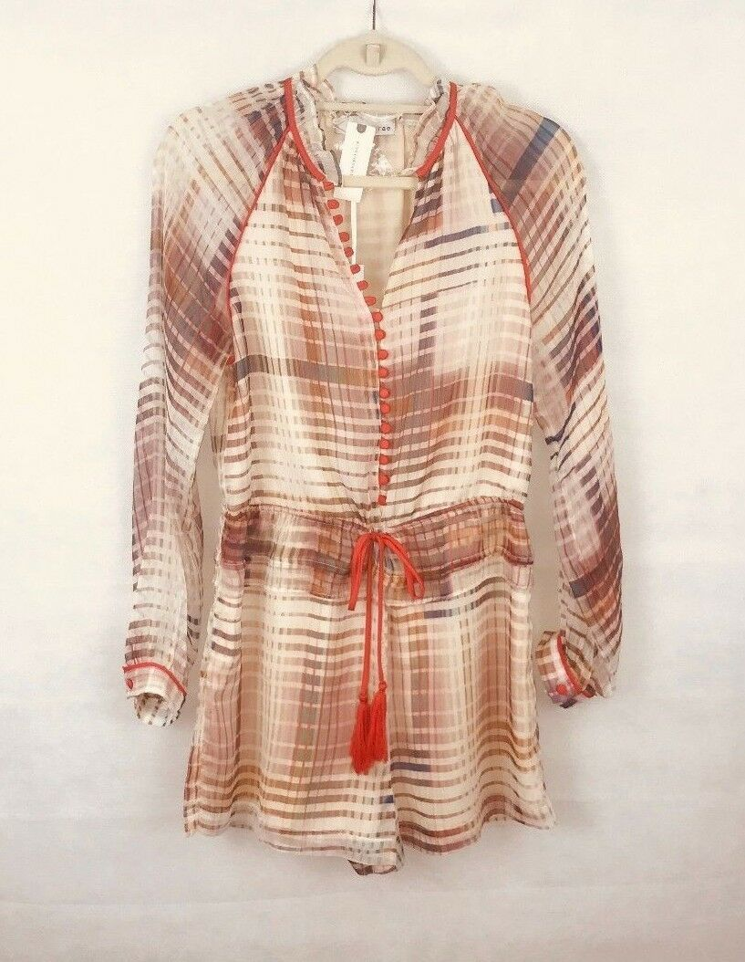 Anthropologie Grid Graphic Romper by Adelyn Rae $158 - NWT