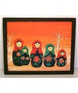 Matryoshka Babushka Russian Nesting Dolls Oil F... - $27.50