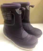 Lands' End Purple Reflective Snow Rain Boots Girl's Size 2 - $25.87