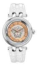 Versace Women's VQE010015 Khai Gold Ip White Leather Wristwatch - $2,586.31