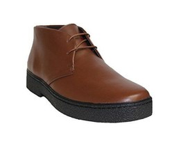 Rocker Playboy Men's Brown Leather British Walker Style Ankle Boots - $150.00