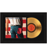 """""""Born in the USA"""" by Bruce Springsteen 17 x 26 Framed 24kt Gold Album wi... - $198.95"""