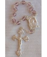 Purple glass beads mini Rosary - $15.00