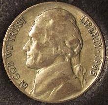 1945-P Jefferson Wartime Silver Nickel XF #0357 - $2.79