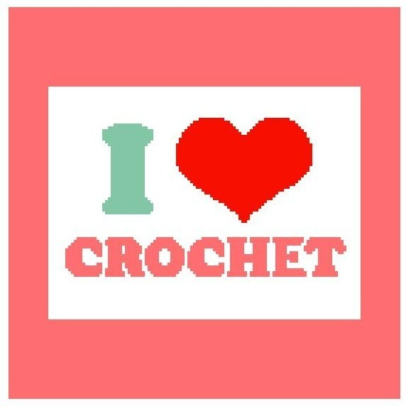 I Love Crochet Color Graph Afghan Pattern