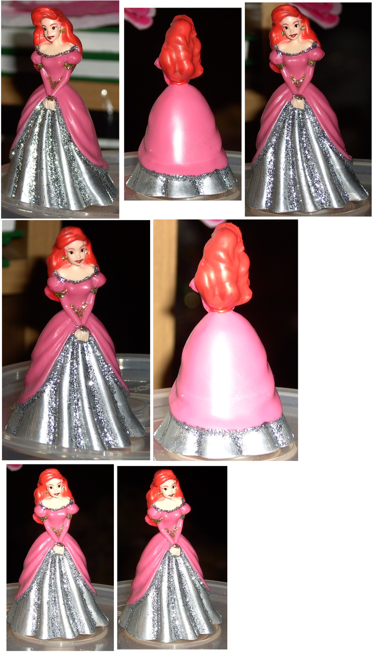 NEW Official Disney Princess Ariel in Sweet Pink & Silver Sparkling Dress Figure