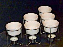 Butter Warmer Ceramic Cups Holders Seafood Crab Lobster Burner Table Set AA19-15 image 2