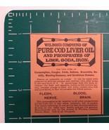 1889 Wilbor's Pure Cod Liver Oil Advertisement Boston, Mass. - $22.00