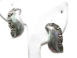 Monet Vintage Silver tone Earrings Clip On  - $15.89