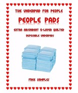 """23x36"""" People Pads Xtra-Absorbent 5-Layer Quilted THE Underpads Made for... - $41.99+"""