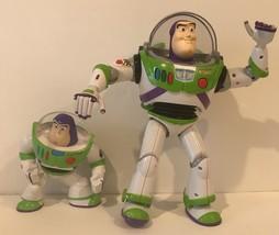Lot Of 2 Disney Pixar Toy Story Buzz Lightyears 12inch 6inch Lights Sounds - $23.38