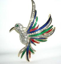 Clear Swarovski Crystal Hummingbird Brooch Pin - $29.95