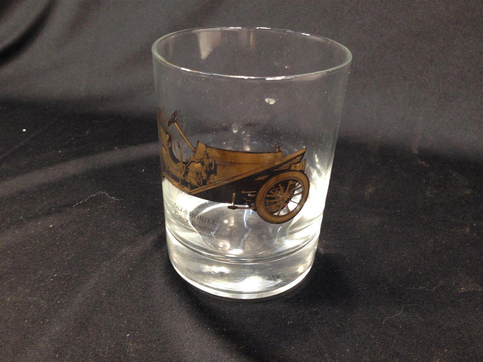 Vintage Oldsmobile Flying Roadster Old Fashioned Rocks Glass