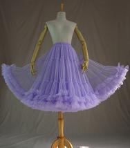 Burgundy MIDI Tulle Skirt Women High Waist Tulle Midi Skirt Ballet Dance Skirt image 7