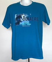 Princess Cruises Bonaire Mens Large T Shirt Blue Iguana Palm Tree Tropical - $21.73