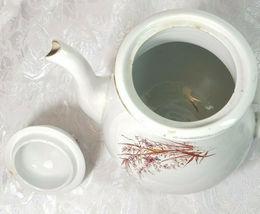ANTIQUE IRON STONE CHINA WARRANTED COFFEE POT image 3